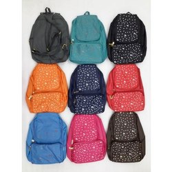 Sanchi Creation Printed Girls College Bag, For Casual Backpack