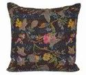 100% Cotton Jaipuri Printed Kantha Cushion Cover Floral Printed Cotton Kantha Pillow Cover