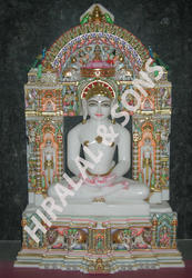 White Marble Lord Parrikar Statues