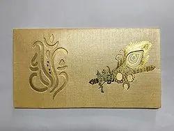 Golden Paper Wedding Cards