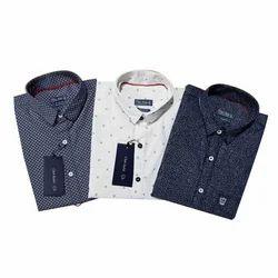M And L Cotton Mens Printed Shirts