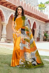 Multicolor  Latest Designer Georgette Border Saree