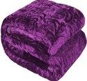 Purple Single Bed Mink Blanket