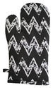 Black With White Zig Zag Print Glove