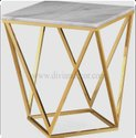 Hedonist Shiny Metal Side Table