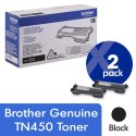 Brother Genuine Tn-450 High Yield Black Toner Cartridge