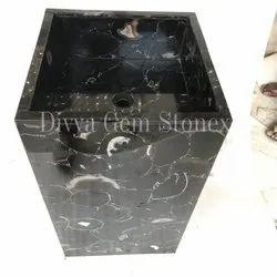 Black Carnelian Pedestal Washbasin
