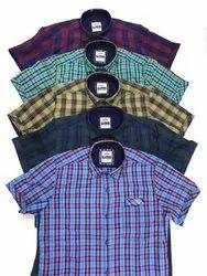 Men Cotton Checks Shirts