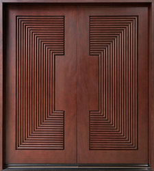 CNC Carved Teak Double Door