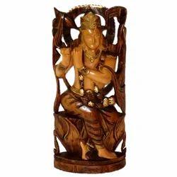 Wooden Black Finishing Krishna Statue