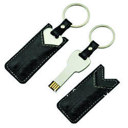 Leather Pen Drive With Key