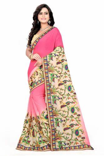 1f0ecfb0f0524e Riva Enterprise Women's Arrival Stone Work Saree & Saree Manufacturer from  Surat
