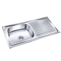 Grey SS Single Bowl Sink