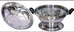 Silver Dal Bati Cooker