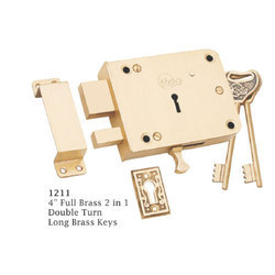 Aluminium Golden Wooden Door Lock