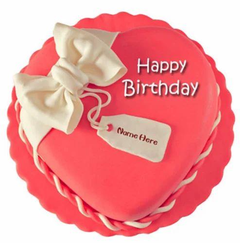 Outstanding Round Birthday Cake 1 Kg Vanilla Rs 1999 Kilogram Ferns N Petals Funny Birthday Cards Online Barepcheapnameinfo