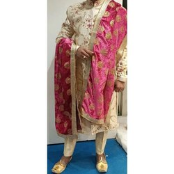 Wedding Wear Embroidered Mens Traditional Sherwani, Size: S-xl