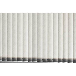 PVC White Plain Vertical Blinds