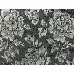 Black Cotton Jacquard Fabric