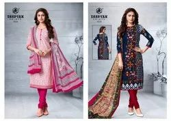 Deeptex Chief Guest Vol-15 Printed Cotton Dress Material Catalog Collection