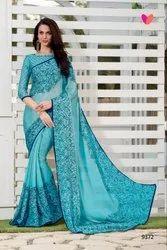 Designer Printed Saree With Blouse Piece