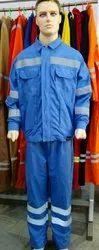 Cotton, Poly Cotton Full Sleeves Labour Dress Industrial Uniform
