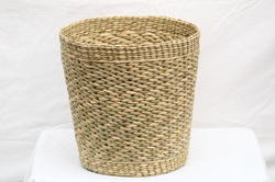 Sea Grass Round Bucket Planter (14 x 14 Inch)