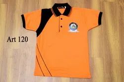 Orange Kids School Polo T Shirt