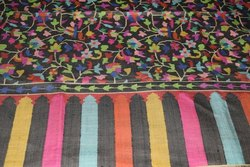 100% Pashmina Kanni Jamma Shawls (Karbon Black Colour)