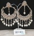 Polki Antique Chandbali Earring