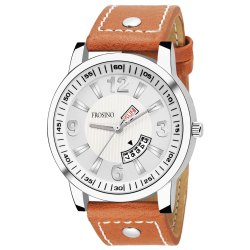 Frosino FRAC061813 Analog Date & Day Function White Dial Casual Watch