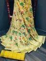 Linen Saree, Machine Made, 6.3 m (with blouse piece)