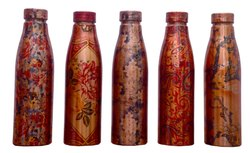 Printed Classic-x Pure Copper Water Bottle