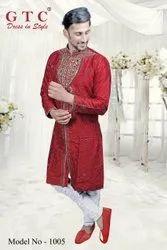400 colours are available Silk Designer Kurta, Band Collar