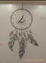 Dezine World Pvc Abstract Shape Designer Wall Clock, Size: 18x18 Inch