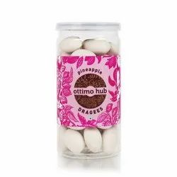 Ottimo Hub 6 Months Pineapple Almond Chocolate Dragees, Packaging Type: Plastic Jar, Packaging Size: 125 Gm