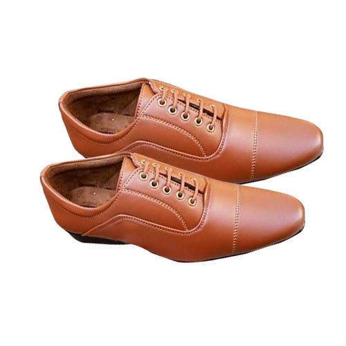 Male Mens Brown Leather Pointed Leather