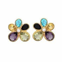 Multi Gemstone Earring