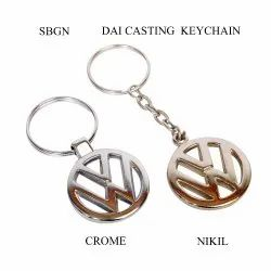 SBGN Silver Two Wheel Logo Key Chain, Packaging Type: Polybag