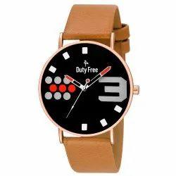 Brown Fashion Analog Watch, Df - 03