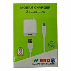1 Meter White Electric ERD 2 Amp ERD Mobile Charger