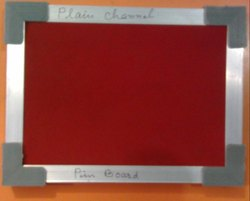 Notice Board with Plain Aluminium Frame