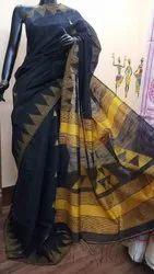 Handloom Cotton Silk Gicha Sarees
