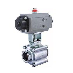 3-4 Way Ball Valves With Pneumatic Rotary Actuator