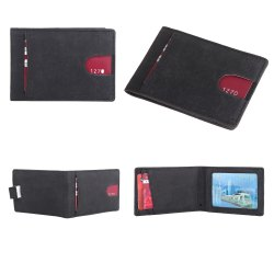 RFID Blocking Slim Bifold Leather Thin Minimalist Front Pocket Wallets for Men