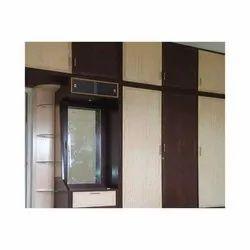 SLR Brown PVC Wardrobe Cabinet for Hotel