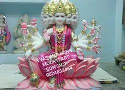 Marble Panchmukhi Gayatri Statue