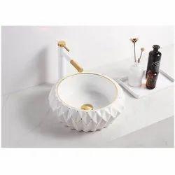 Ceramic Deck Mounted KN-1346-DG Designer Wash Basin, For Bathroom