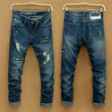 Mens Denim Ripped Stretchable Jeans, Size: 28 to 38