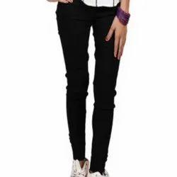 Lycra Regular Fit Ladies Solid Kurti Pant, Waist Size: 26 - 32